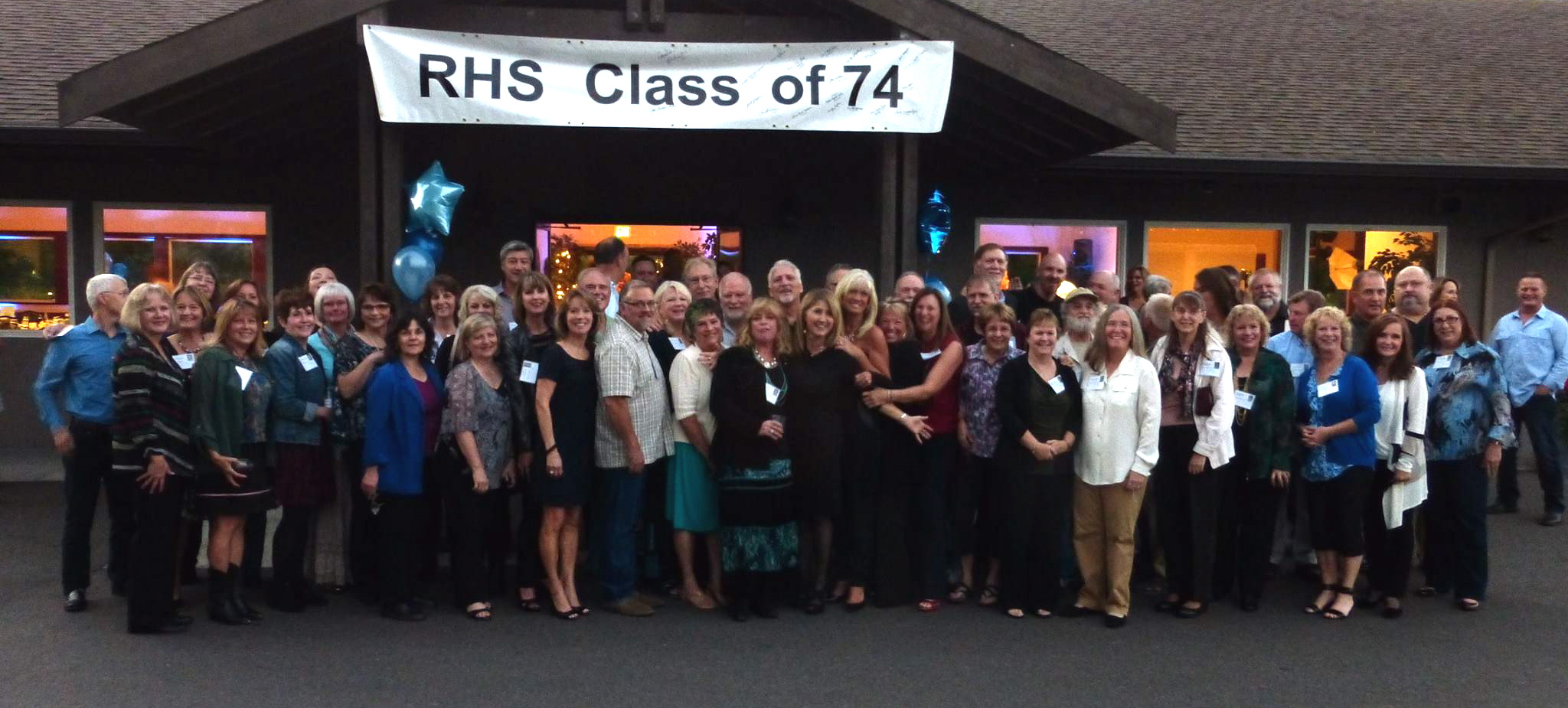 Rogers High School Class of 1974 Reunion Group Photo